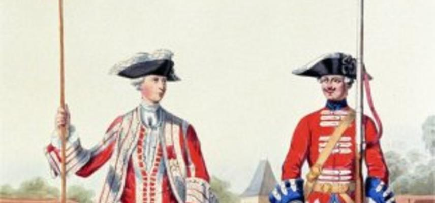 Soldier and officer of the Gardes Suisses in French Service in 1757.Alfred de Marbot