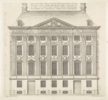 Façade of the Trippenhuis designed by Johannes Vinckboons, 1664. Collection: Rijksmuseum Amsterdam.