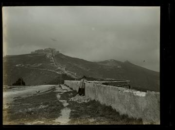 film negative of the parco urbano delle mure with forte sperone 1901 rijksmuseum amsterdam