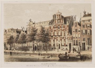 The House with the Heads, print by Willem Hekking Jr. Collection: Atlas Dreesman. City Archive Amsterdam