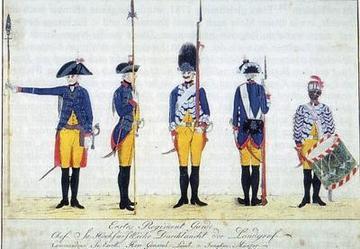 the first guard regiment of hessen kassel c1785 source digam digitales archiv marburg